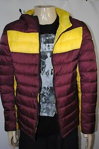 Mens Hooded Puffy Armani Color Reversible Jeans New Blocked dHqCZY5x