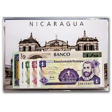 1991-1995 Nicaragua 1 Centavo-1 Cordoba Banknote Set Unc - SKU #52708