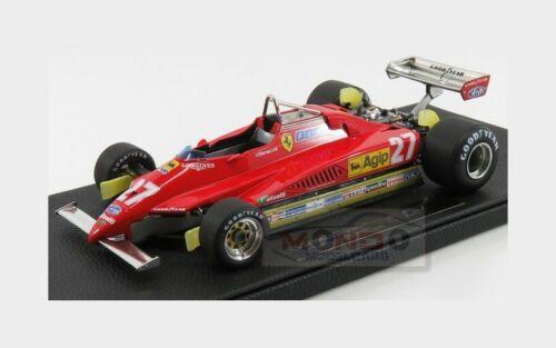 Ferrari F1 126 C2 #27 Season 1982 G.Villeneuve Red GP REPLICAS 1:18 GP019A Model