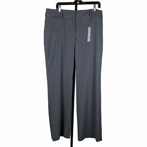 Ann Taylor LOFT Julie Trouser Gray Pants 14 Wide Leg Inseam 33 inches New NWT