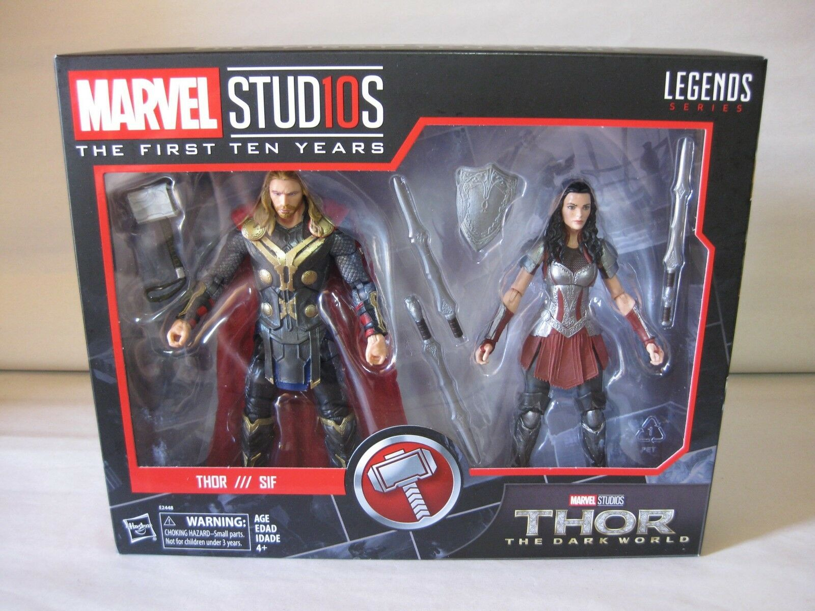 2017 Marvel Legends Marvel Studios 1st 10 Years Dark World Thor Sif 2 Pk New MIP
