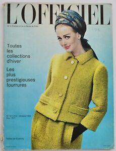 1964 L'Officiel Paris Haute Couture Collections fashion magazine 60s vintage