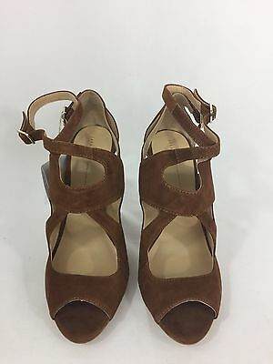 NWB Zara Basics Brown Suede Pumps with Peep Toe Womens Eur 37 US 6.5  SOLD OUT