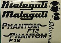 Malaguti Phantom F12 old style Decals/Stickers MANY COLOURS AVAILABLE 50 125