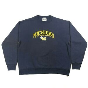 Lee-Sport-Michigan-Wolverines-Cotton-Poly-Sweatshirt-1997-Big-10-Champions-VTG