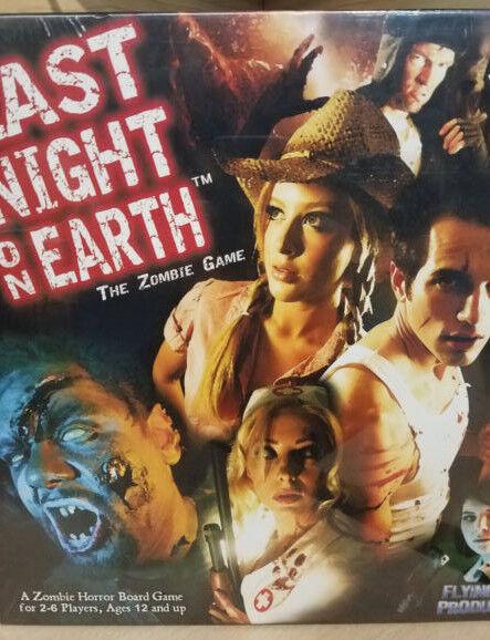 Last Night on Earth  Base Core jeu de plateau Zombies Flying Frog Jeux Neuf Neuf dans sa boîte
