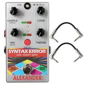 Alexander Pedals Neo Erreur De Syntaxe Glitch Midi Pédale D'effets Guitare + Câbles-afficher Le Titre D'origine 6q7znnuz-07180955-653875365