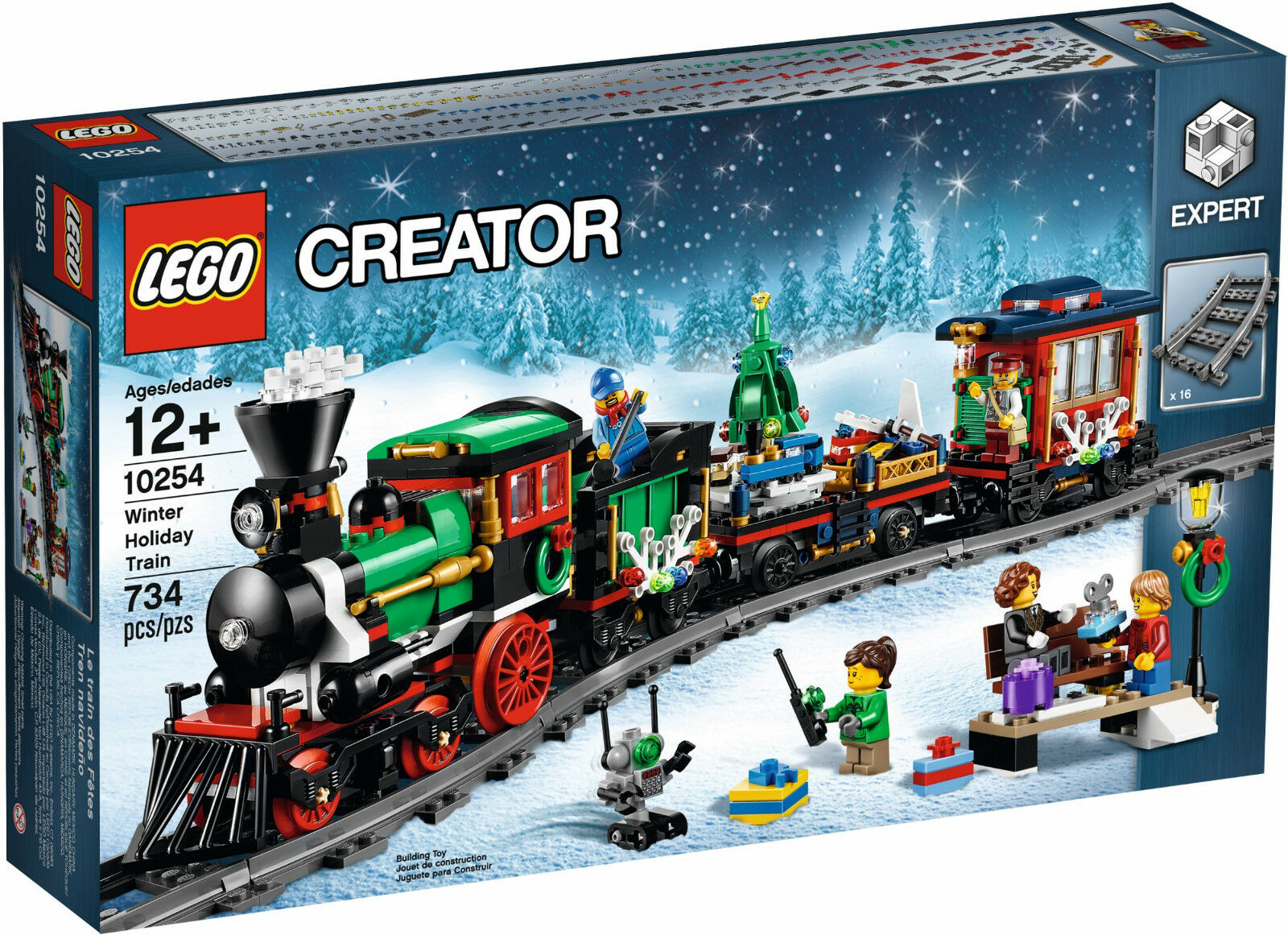 2016 LEGO EXPERT CREATOR CHRISTMAS WINTER HOLIDAY TRAIN 10254, NEW&SEALED