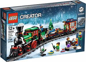 2016-LEGO-EXPERT-CREATOR-CHRISTMAS-WINTER-HOLIDAY-TRAIN-10254-NEW-amp-SEALED