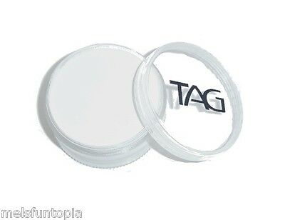 TAG Body Art 90g Pot Regular White Professional Face and Body Paint - Party