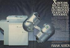 Publicité 1984 ( Double page )  RANK XEROX 1048 recto-verso copieur la série 10