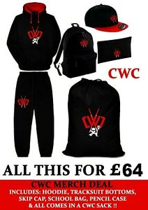 CHAD-WILD-CLAY-MERCH-DEAL-XL-Sack-Hoody-Joggies-Skipcap-Backpack-Pencilcase-CWC