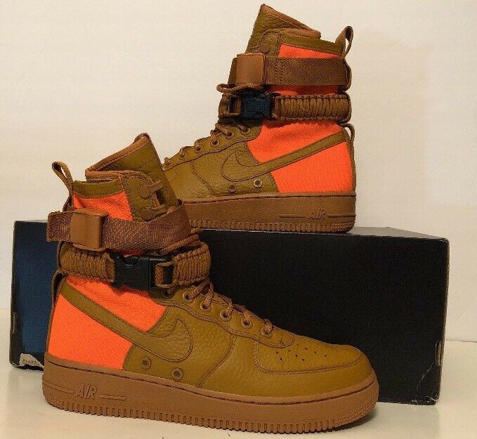 Nike sf af1 qs settore speciale air force 1 deserto ocra 903270-778 numero 10