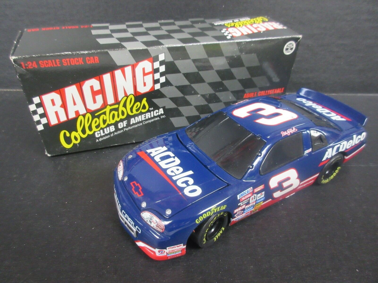 1995 RCCA  3 Dale Earnhardt--AC Delco Bank Car -- 1/24th scale