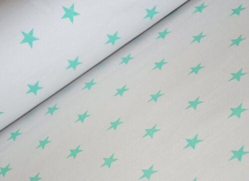 """Menthe vert et gris 100/% Coton Tissus ex large 160 cm 64/"""" nouveaux modèles"""
