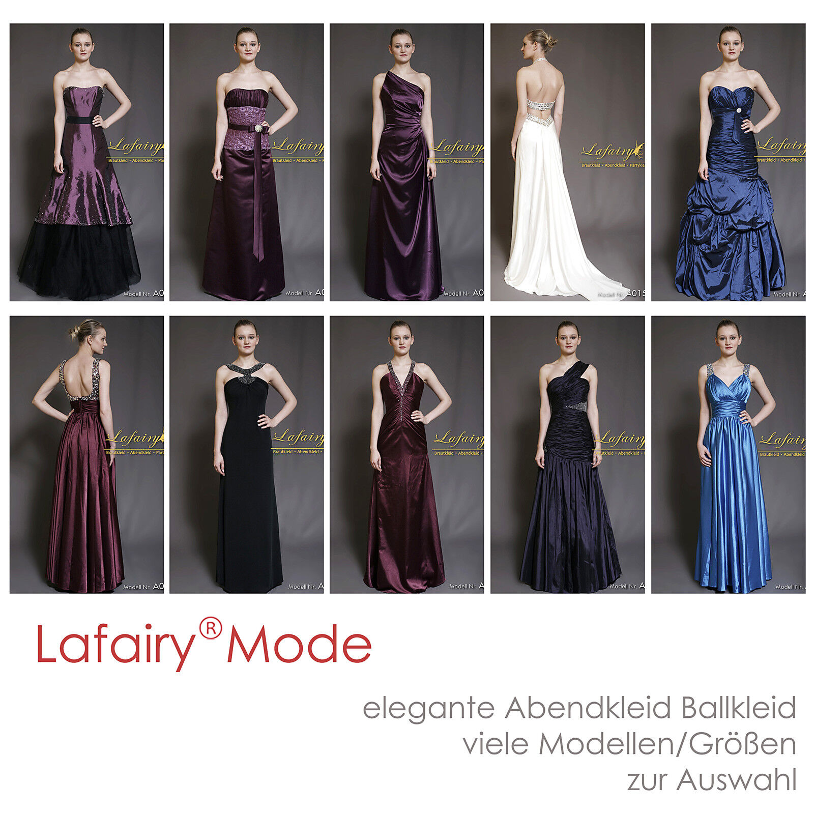 Abendkleider Cocktailkleid Ballkleid bodenlang Ärmellos lila blau weiß Lafairy