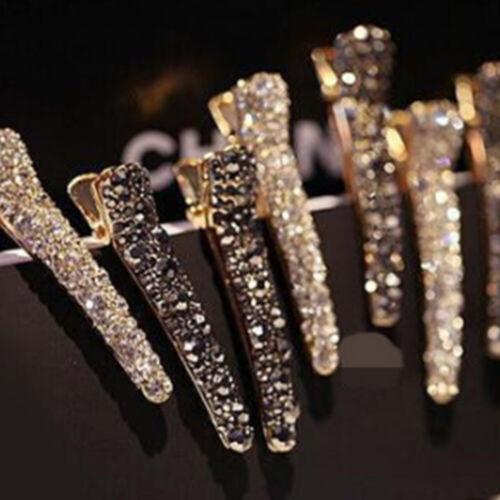 Women/'s Fashion Rhinestone Hair Clip Pin Crystal Letters Hairpin Slide Barrettes