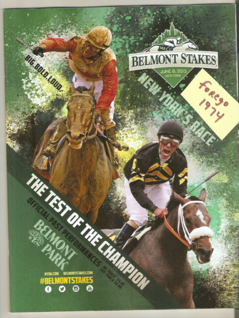 1998 BELMONT STAKES PROGRAM MINT REAL QUIET MISSES TRIPLE CROWN BY A NOSE