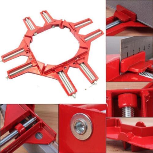 Rouge Métallique 90 ° Degré Angle Droit claveaux Coin Pince menuiserie bricolage cadre photo Ki
