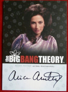 The Big Bang Theory Alice Amter Seasons 3 And 4 Autograph Card A13 Ebay Alice amter (born 11 may 1966 in birmingham) is an english actress, best known for her character mrs. details about the big bang theory alice amter seasons 3 and 4 autograph card a13