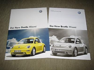 2019 Neuestes Design Vw New Beetle Miami Prospekt Brochure Von 6/2004, 20 Seiten + Preisliste