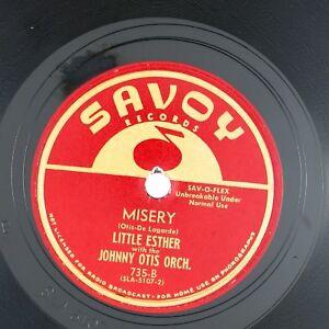 LITTLE ESTHER Misery/Mistrustin' Blues  10IN 1950 BLUES NM- LISTEN!!!!!!!