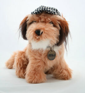 Benji-Dog-1978-Dakin-Plush-Mulberry-Square-Detective-Hat-with-Name-Tag-Soft-Toy
