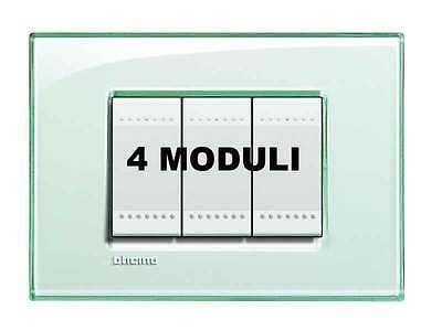 Bticino Lna 4804ka Placca Living Light Acquamarina 4 Moduli Nuove Varietà Sono Introdotte Una Dopo L'Altra