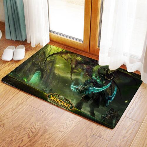 Neu World of Warcraft Illidan Stormrage Matte Toilette Vorleger Teppich Fußmatte