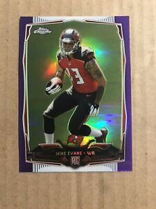 2014-MIKE-EVANS-TOPPS-CHROME-PURPLE-REFRACTOR-185-TAMPA-BAY-ROOKIE-RC