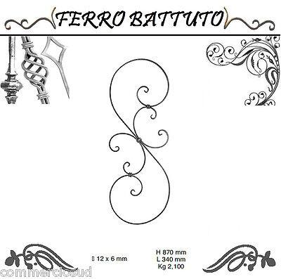 Novel Designs Pannelli Paletti Fogliati Ferro Battuto X Scala Ringhiere Cancello H 87cm L 34cm Famous For Selected Materials Delightful Colors And Exquisite Workmanship