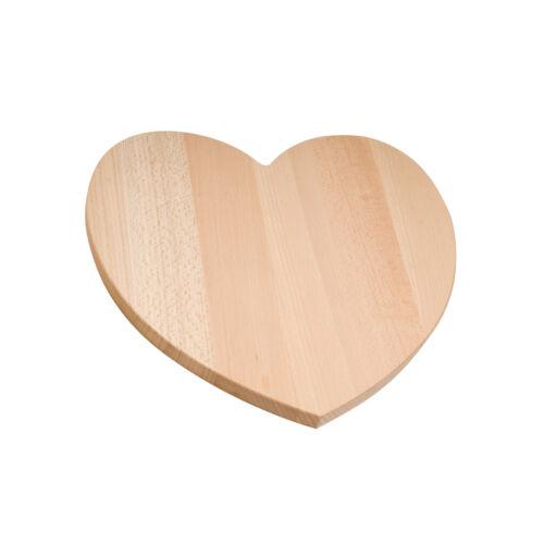 Placa de madera de corazón 8 pulgadas 20cm Madera Maciza Llano Decoupage Craft