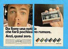 TOP985-PUBBLICITA'/ADVERTISING-1985- SONY AUDIOCASSETTE UCX-S90 -2 fogli