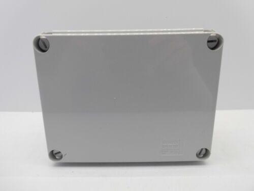 GEWISS GW44207 190x140x70mm ENCLOSURE JUNCTION BOX PLASTIC WATERPROOF IP56 GREY