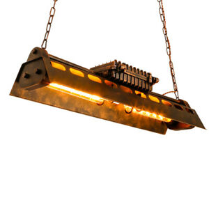 Retro-Vintage-Industrial-Metal-Loft-Bar-Black-Shade-Lamp-Ceiling-Pendant-Light