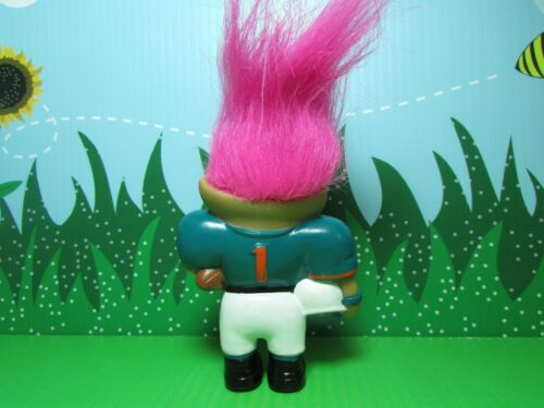 "NEW MIAMI DOLPHINS NFL GOOD LUCK SPORTS TROLL 4/"" Ace Treasure Troll Rare"