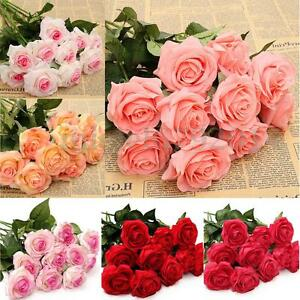 10-20-Heads-Real-Touch-Artificial-Latex-Rose-Flowers-Bouquet-Wedding-Home-Decor