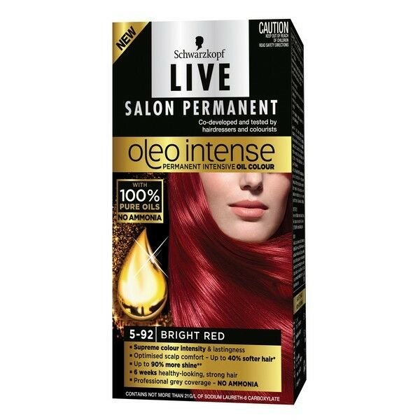 Schwarzkopf Oleo Intense 5-92 Bright Red NEW Cincotta Chemist