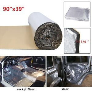 """Heat Shield Insulation Thermal Sound Deadening Control Noise Damping Mat 90""""x39"""""""