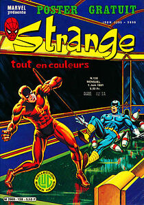 STRANGE-N-138-EN-TRES-BON-ETAT-L-039-ARAIGNEE-DAREDEVIL-IRON-MAN-ROM-1981