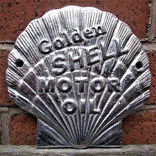 Golden Shell Motor Oil Sign Cast logo POLISHED Petrol Vintage Garage sign VAC217