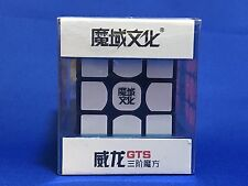 U.S. IN STOCK - MoYu WeiLong GTS Black 3x3x3 Magic Speed Cube + BONUS Cube Bag