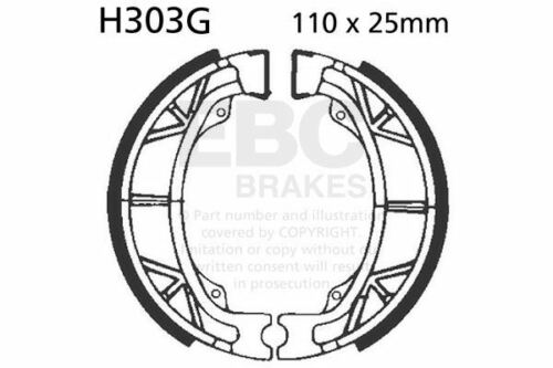 FIT HONDA ATC 200 B/ESE/ESF/SE 81>84 EBC FRONT GROOVED BRAKE SHOES