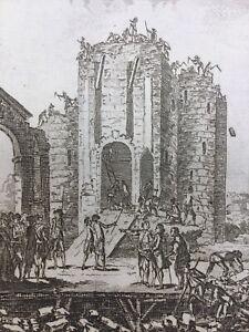 Demolition-de-la-Bastille-en-1790-Rare-Gravure-Revolution-Francaise-Paris