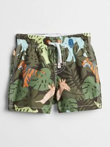 18662f63d4 NWT BABY GAP BOYS SWIM TRUNKS SHORTS jungle safari you pick size | eBay