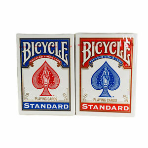 2 Decks Bicycle Standard Playing Cards Red//Blue New Sealed Decks