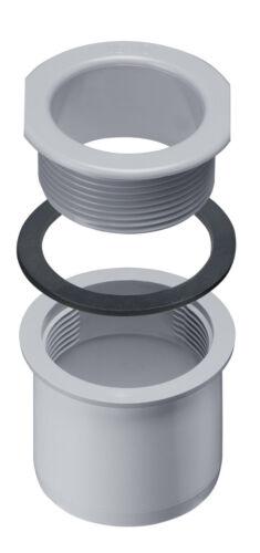 Ablaufstutzen variabel grau für Kastendachrinne