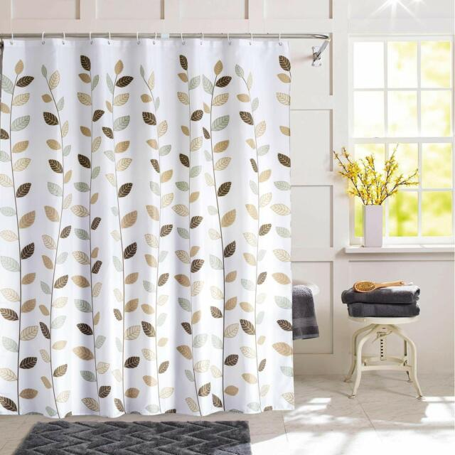Fabric Shower Curtain Raffia