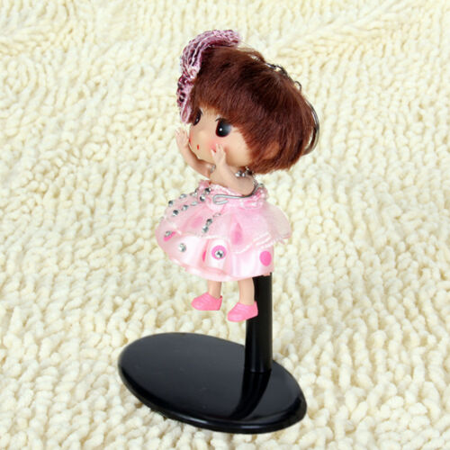 10 Adjustable Metal Doll//Bear Display Stand Holder Hanger Plastic Base Black