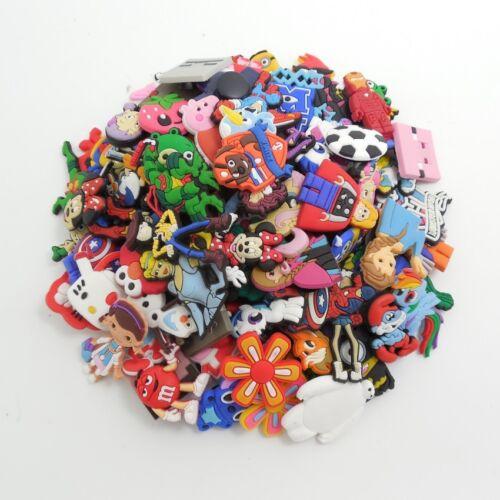 50pcs Random Cartoon PVC Shoe Charms Accs Decoration for Clog&Jibitz Wristband